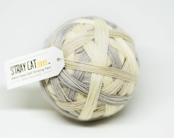 GOING NUDE - vibrant hand dyed self striping sock yarn