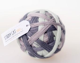 PURDEY - vibrant hand dyed self striping sock yarn