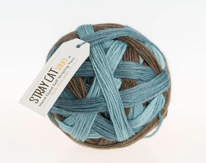SET ADRIFT - vibrant hand dyed self striping sock yarn