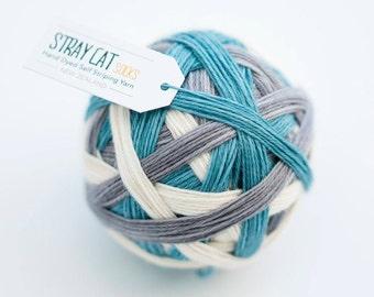 SMUDGE - vibrant hand dyed self striping sock yarn