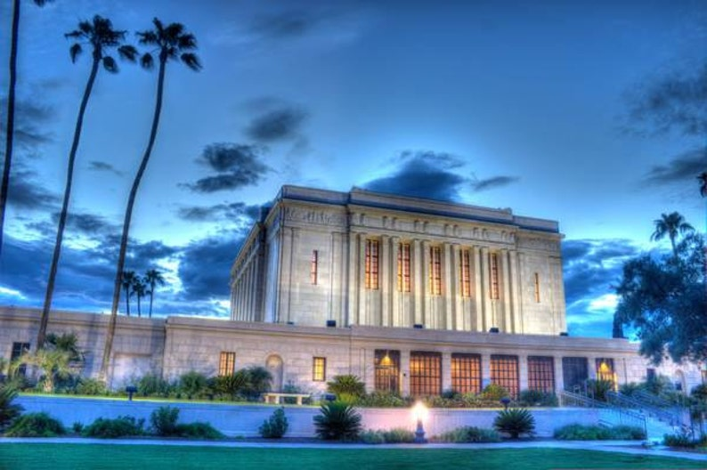 Mesa Arizona LDS Mormon Temple Art Photo Photography Instant image 0