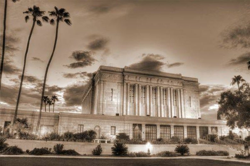 Mesa Arizona Temple LDS Mormon Art Photo Photography Instant image 0