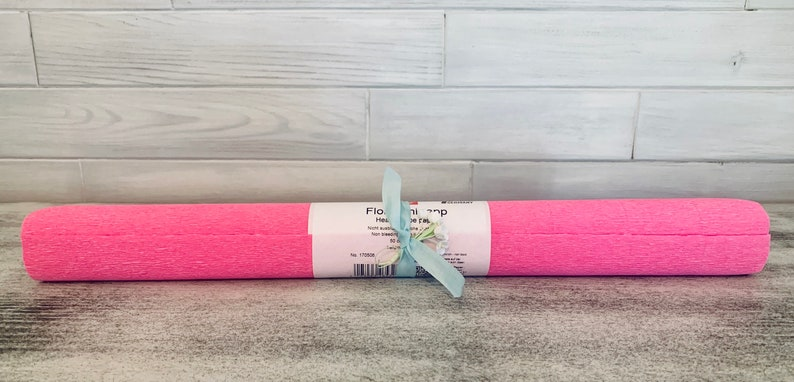 Heavy Duty German Florist Crepe Large Roll-Made in Germany-Pink Bubblegum