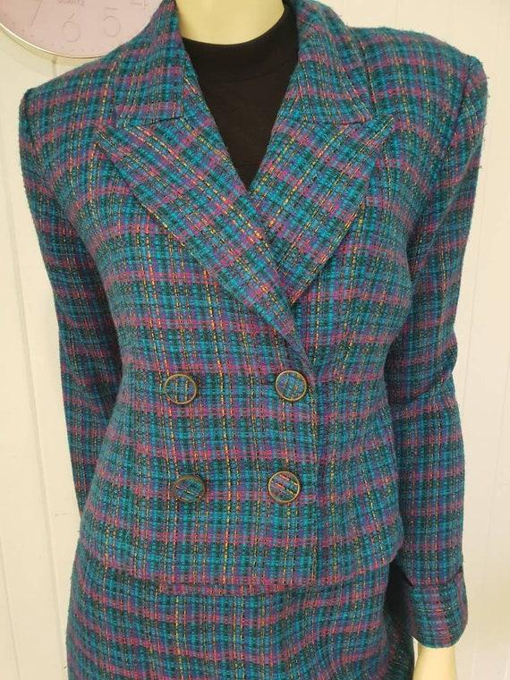 Plaid clueless skirt and blazer combo