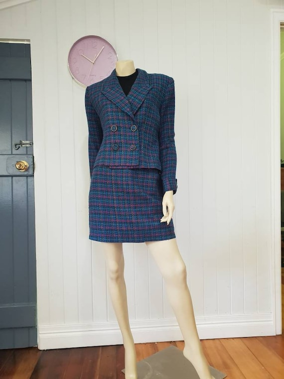 Plaid clueless skirt and blazer combo