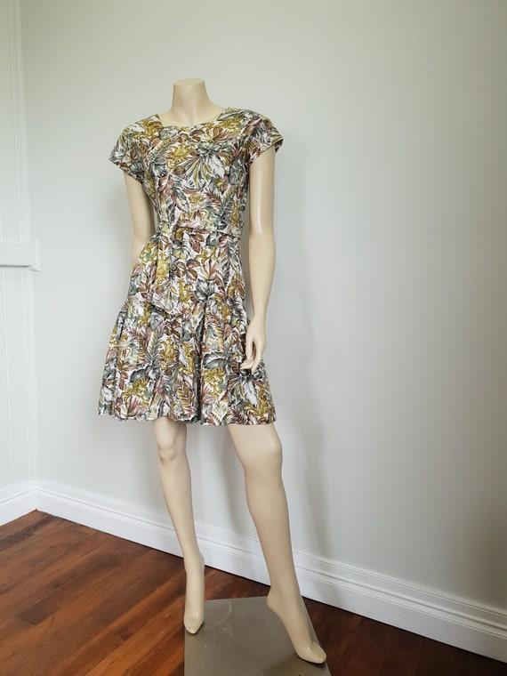 Vintage Hawaiian Print dress by Hilda