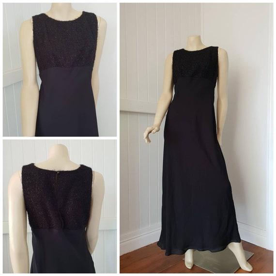 Vintage Floor length black evening dress