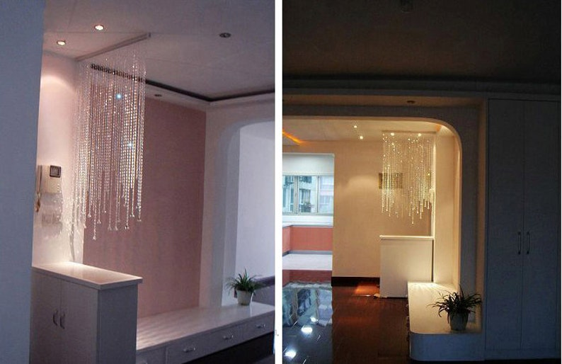 Champagne colored beaded curtain for decoration
