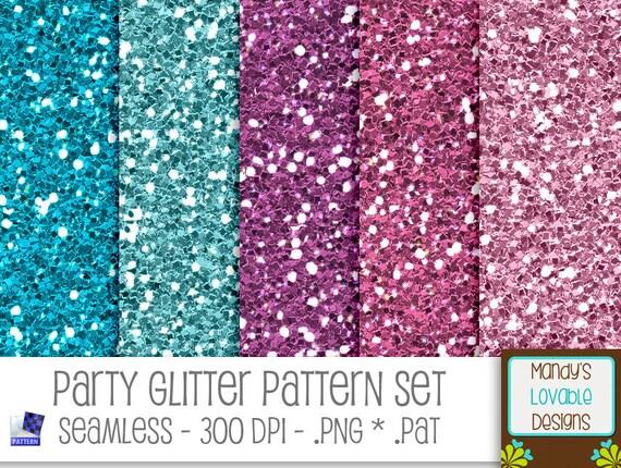 SALE Party Glitter Pattern Set For Photoshop PSE Etsy Classy Glitter Pattern