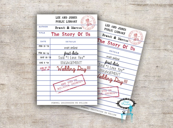 Personalized Library Card Save The Date Book The Date Library Card Invite Theme Wedding Wedding Invitation Library Wedding