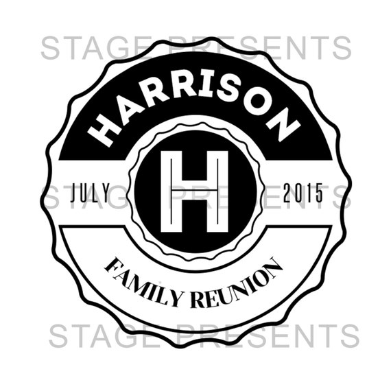 family reunion logo custom logo personal use family etsy