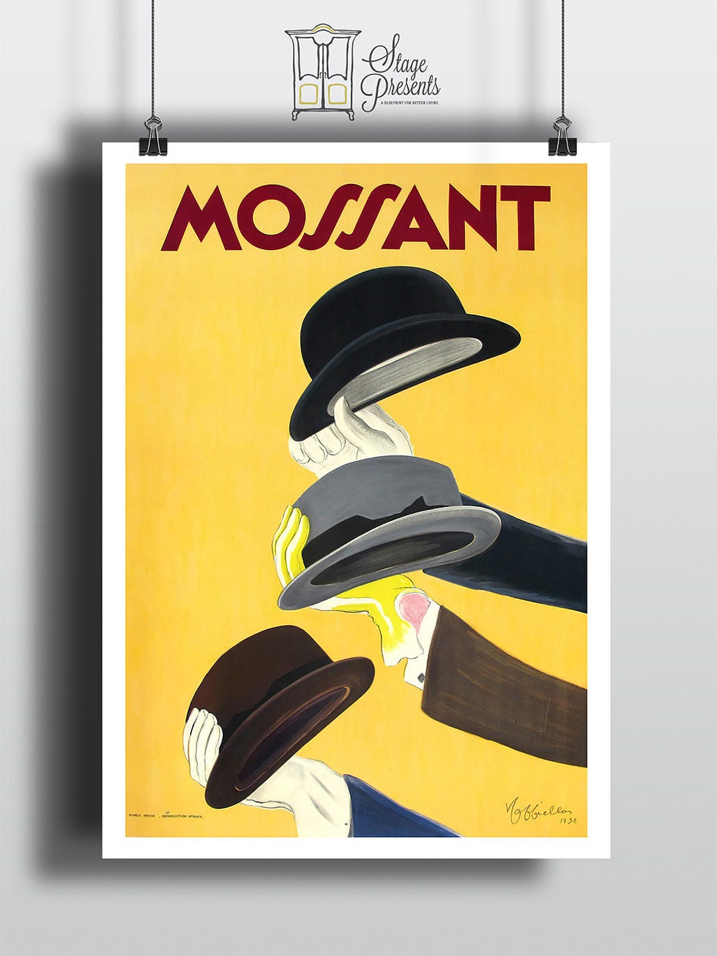 Mossant Vintage Fashion Poster Reproduction 11X17 Wall Art   Etsy