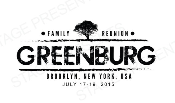 custom family reunion logo personal use family reunion etsy