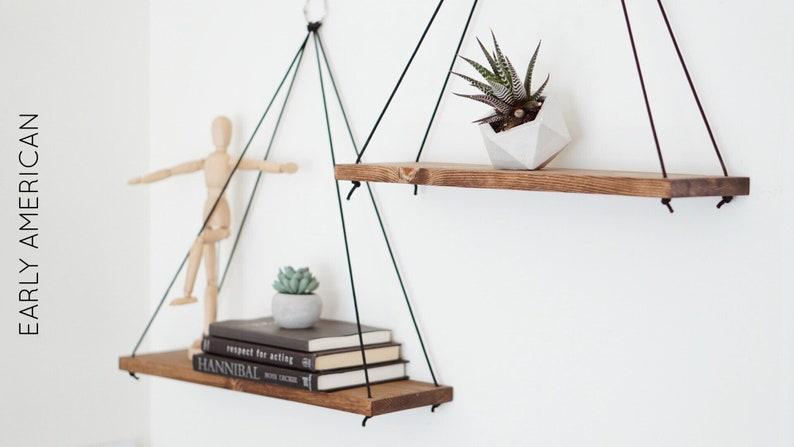 Hanging Shelves / Set of 2 Large Shelves / Floating Shelves / image 0