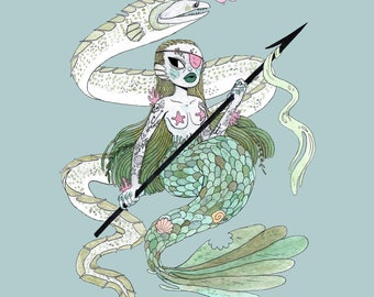Mermaid Warrior • Print