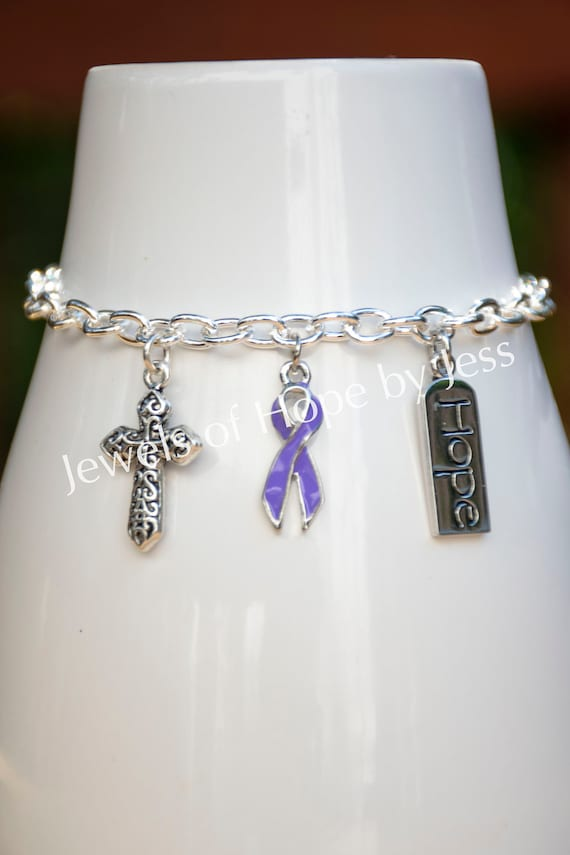 Bracelet Custom Hodgkins Lymphoma Awareness Believe MOM OR DAD charm ONLY Silver Jewelry