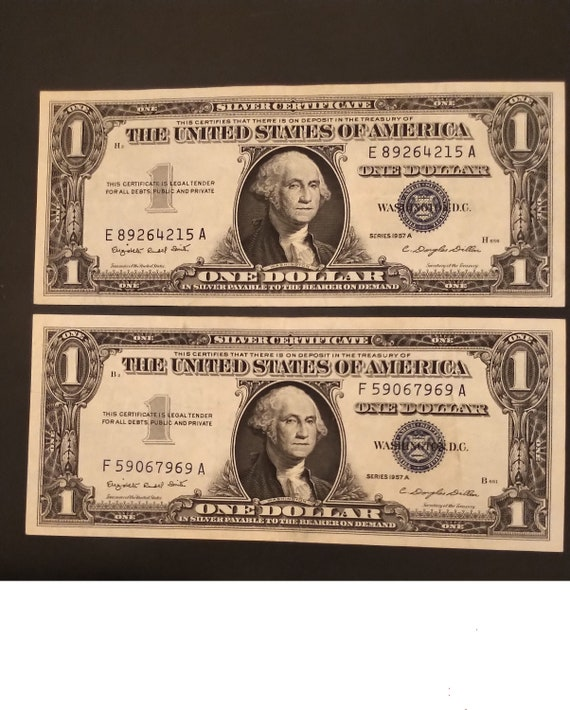 1957B $1 One Dollar Silver Certificate Crisp Uncirculated  Condition Great Value