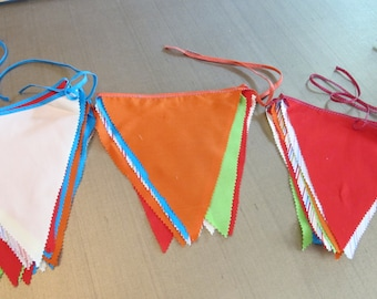 Bunting Pennant Garland Multi-color bunting pennants, flags for birthdays parties and celebrations