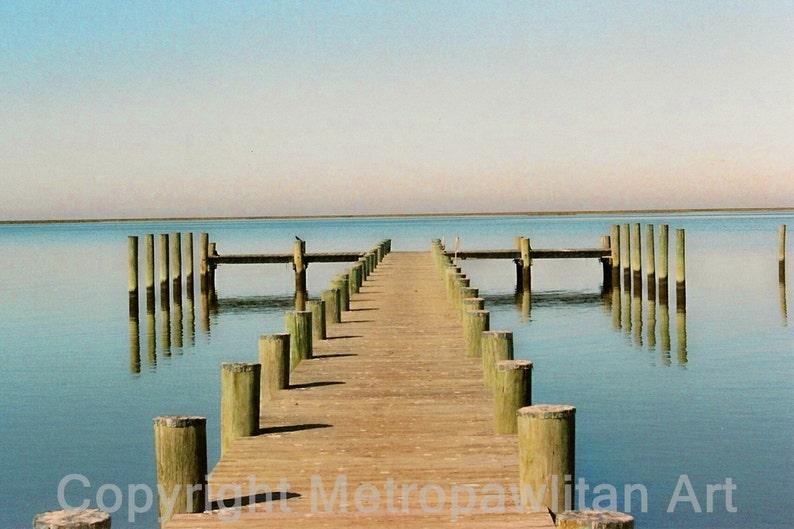 8x10 photograph Crisfield Maryland Boat Dock on Chesapeake image 0