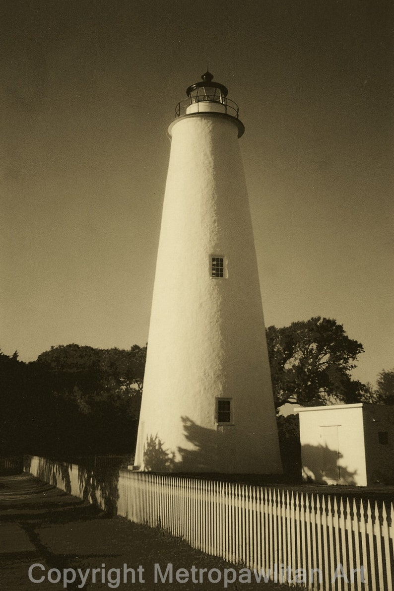 8x10 photograph Ocracoke Island Lighthouse Outer Banks NC in image 0