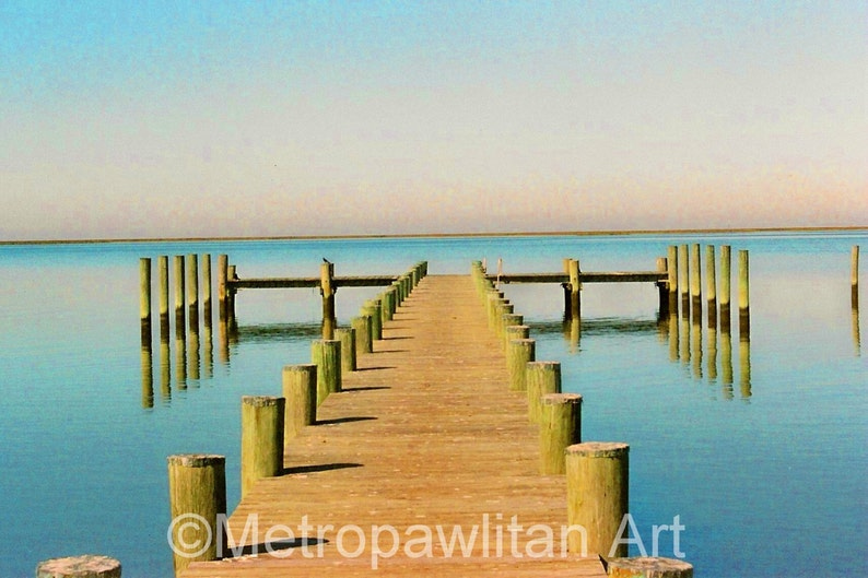 Crisfield MD Dock greeting card or invitation  5x7 with image 0