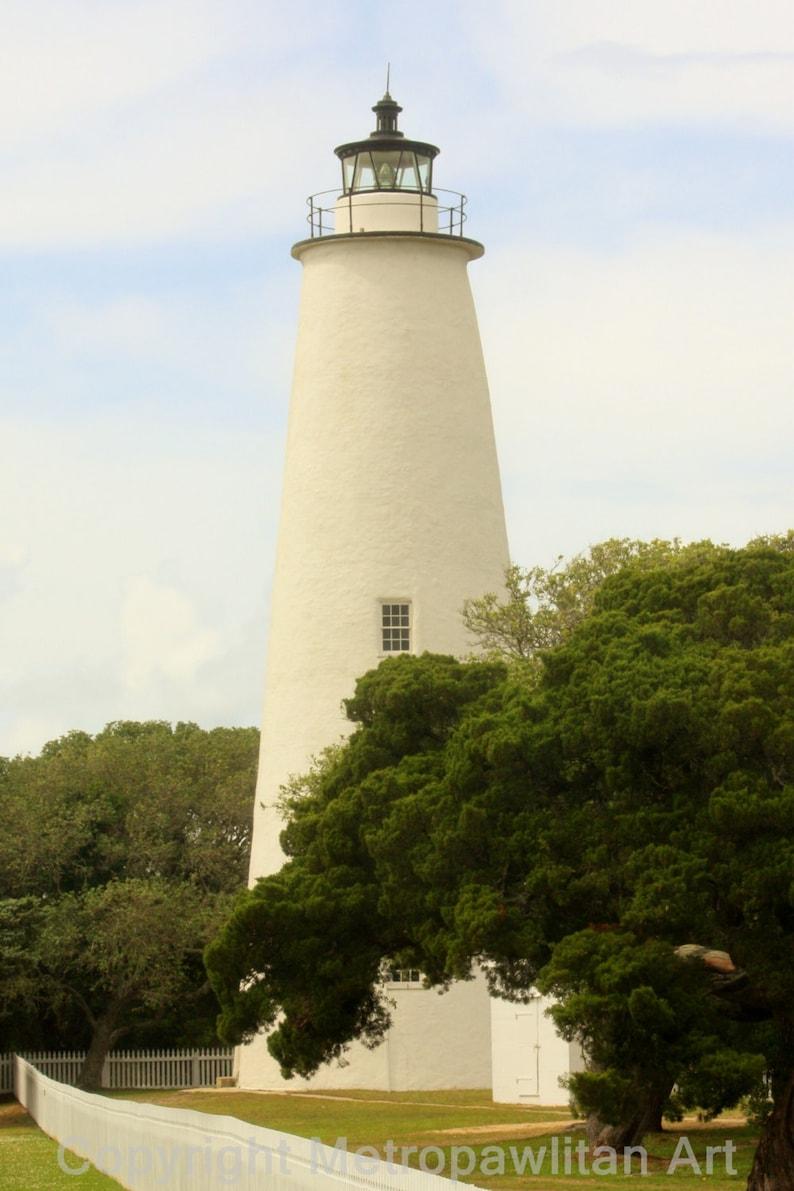 8x10 photograph Ocracoke Island Lighthouse Outer Banks NC image 0