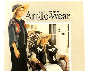 Art To Wear, Original Machine-Applique Design, Vintage 1986