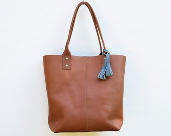 Athena Leather Tote Bag // Woman's leather tote bag / Leather purse // Women's Leather Bag
