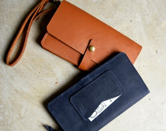 Women's Leather Wallet  -  Leather Clutch / Handmade leather wallet