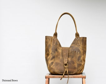 445c9cad0fc7 Lucy Leather Hobo Tote   Handmade Leather Shoulder Bag   Leather Tote   Leather  Purse   Tote with Pocket