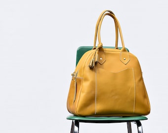 Bea Bowler Bag // Handmade Leather Tote // Leather Satchel //  Women's Leather Purse