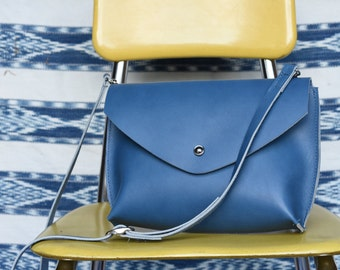 Small Leather Crossbody // Leather Envelope Purse //Handmade leather bag