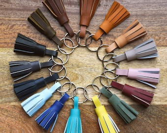 Leather Key Chain // Leather Tassel Keychain