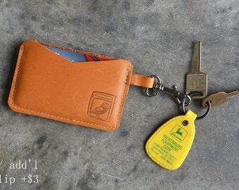 Leather Card Holder //  Men's Wallet // Handmade leather wallet / card holder