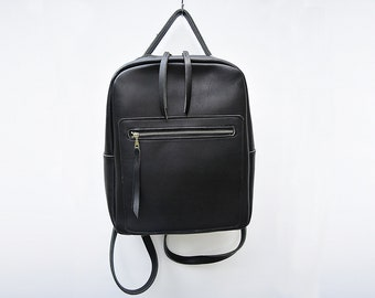 Evie Leather Backpack /  Unisex Backpack