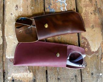 Leather Sunglass Case// Handmade leather Sunnies Case // Soft Leather Sunglasses Case