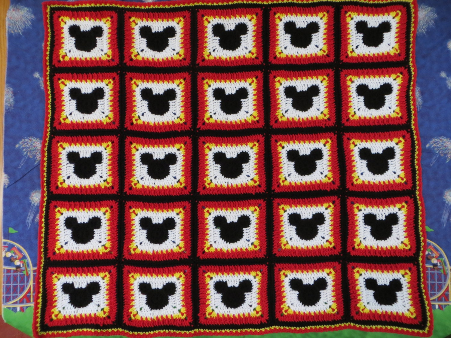 Mickey Mouse Inspired Pattern Digital PDF File Only Crochet Pattern Pattern Works For Sizes Newborn To Adult