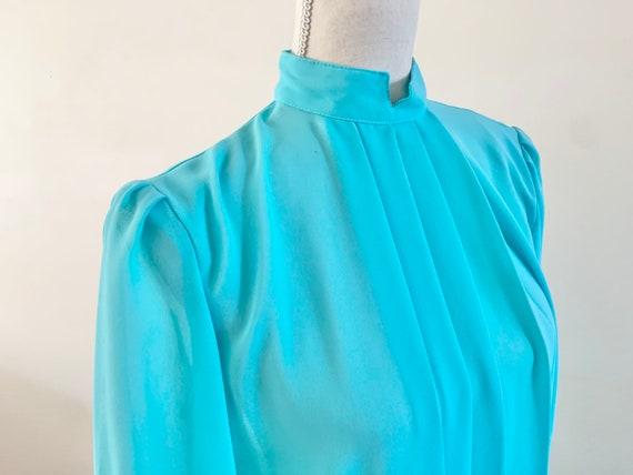 Blue Chiffon Dress, Vintage Chiffon Dress, Vintag… - image 8