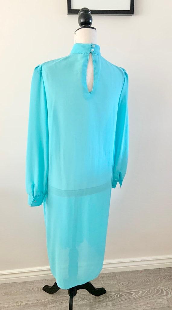 Blue Chiffon Dress, Vintage Chiffon Dress, Vintag… - image 7