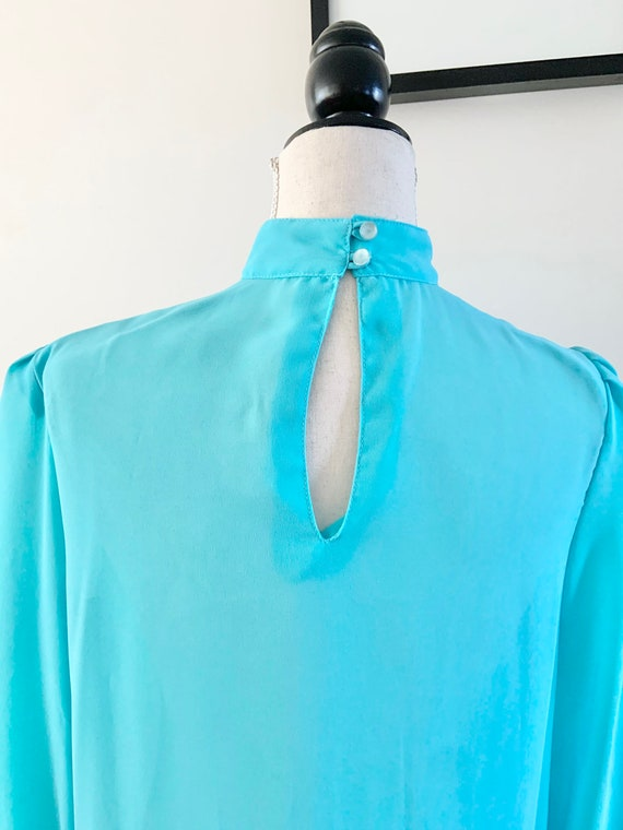 Blue Chiffon Dress, Vintage Chiffon Dress, Vintag… - image 5