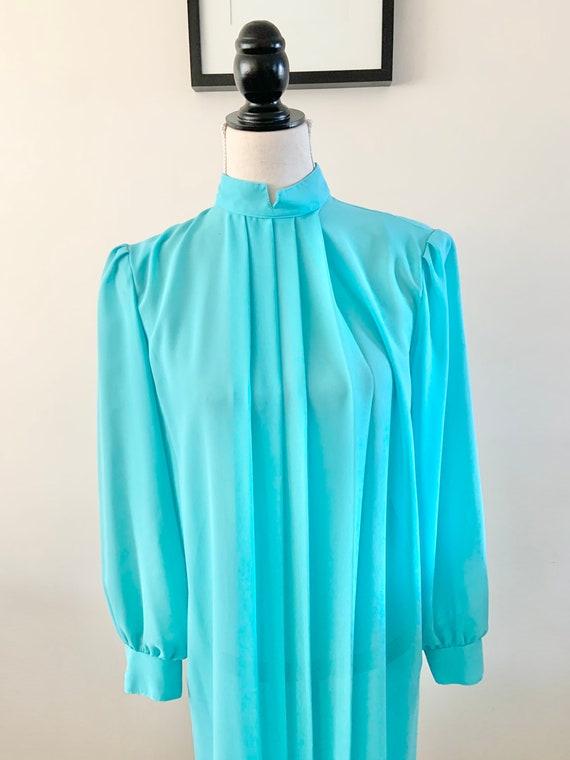 Blue Chiffon Dress, Vintage Chiffon Dress, Vintag… - image 6