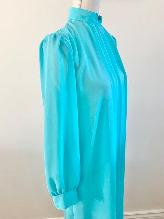 Blue Chiffon Dress, Vintage Chiffon Dress, Vintag… - image 9