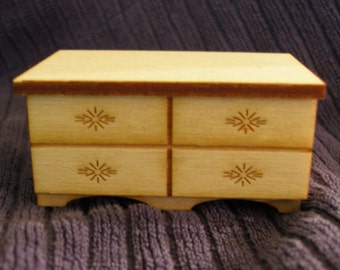 Miniature doll house low chest  with drawer