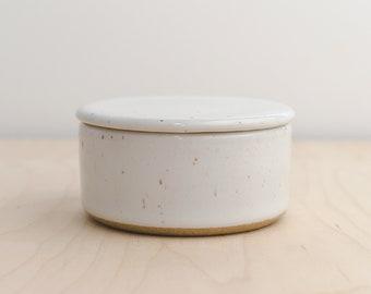 Ceramic Salt Cellar - Salt Cellar - Salt Cellar with lid - Salt Pig - Salt Keeper - Salt Container - Pottery Salt Cellar