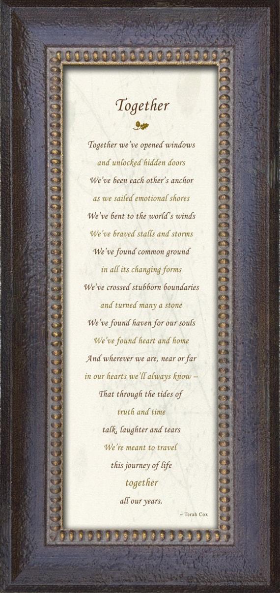 Zusammen Jubiläum Hochzeit Gedicht Von Terah Cox