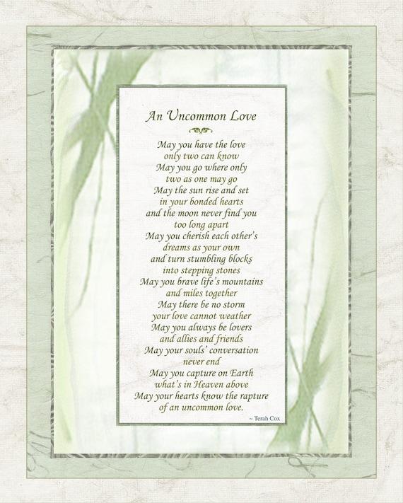 Ungewöhnlich Liebe Hochzeit Engagement Gedicht Von Terah Cox