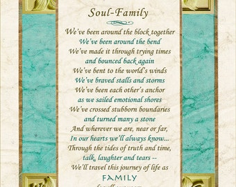 SOUL-FAMILY, by Terah Cox (Wedding, anniversary, family, friend poem)