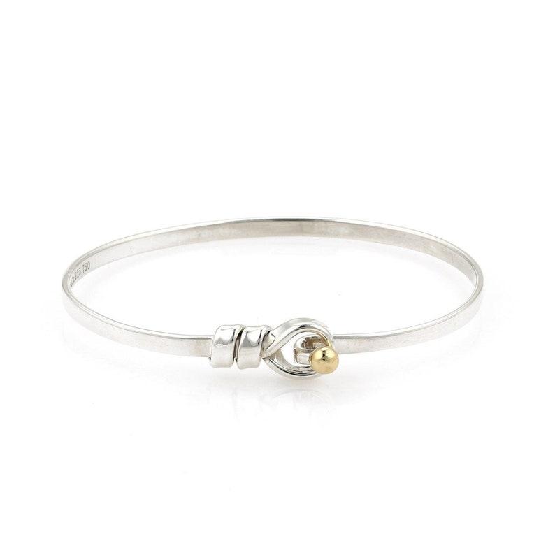 fa18a55f0 20686 Tiffany & Co. 18k Gold Sterling Silver Hook Eye | Etsy