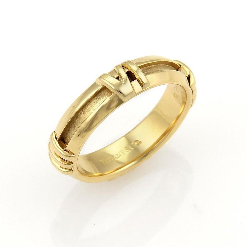 271a1be3e 16611 Tiffany & Co. Atlas Roman Numeral 18k Yellow Gold Band | Etsy