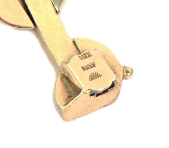 26249 /  Wide Fancy 14k Two Tone Gold Link Bracel… - image 5